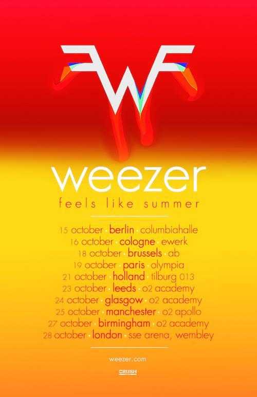 Weezer tour dates in Melbourne