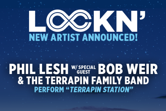 Bob Weir scheduled to perform with Phil Lesh and the Terrapin Family Band. Photo by: LOCKN Festival / Twitter