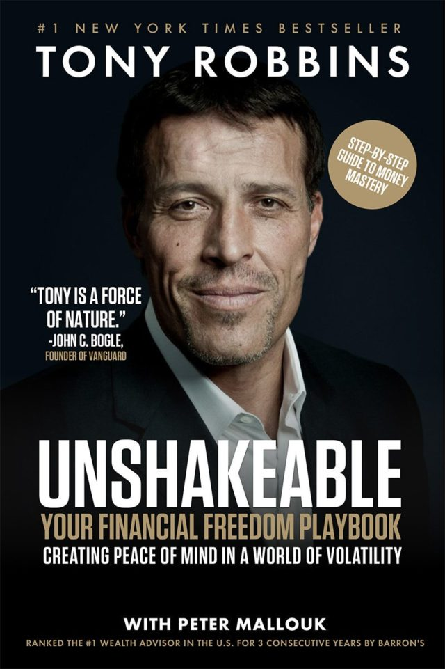 Unshakeable: Your Financial Freedom Playbook book cover. Photo by: Tony Robbins / Twitter