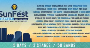 SunFest 2017 lineup. Photo by: SunFest / Twitter