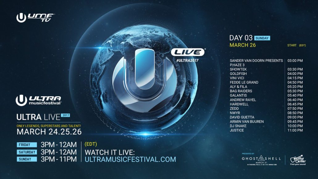 Ultra Music Festival 2017 day 3 schedule. Photo by: Ultra Music Festival / Twitter