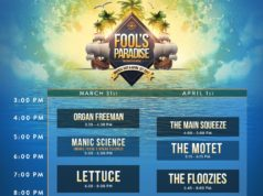 Fool's Paradise 2017 daily schedule. Photo by: Fool's Paradise