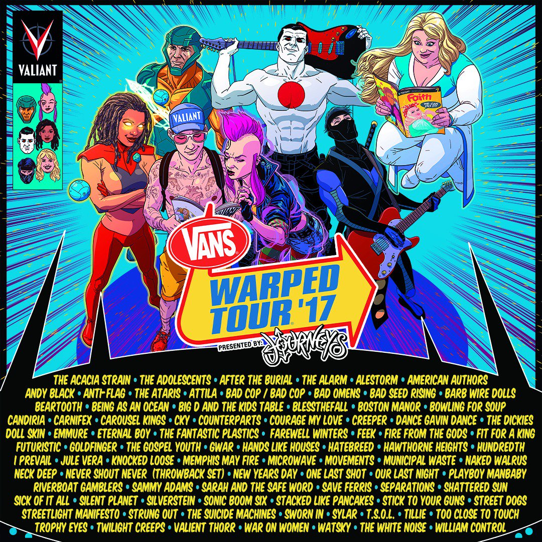 3054725ab9 Vans Warped Tour 2017 lineup. Photo by  Vans Warped Tour   Twitter