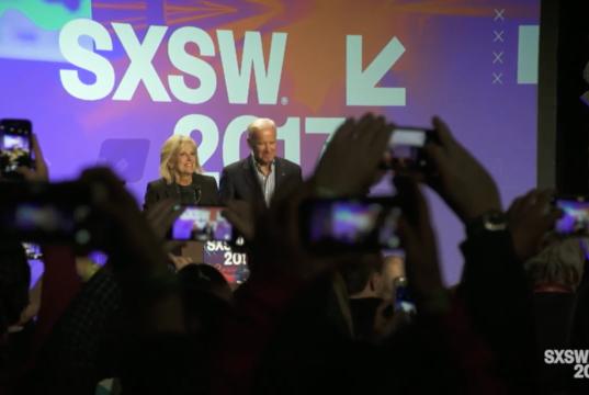 Jill and Joe Biden at SXSW 2017. Photo by: SXSW / YouTube