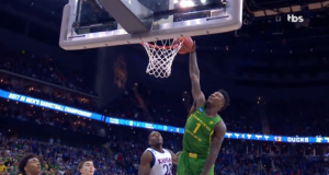 The Oregon Ducks advance to the Final Four. Photo by: NCAA March Madness / YouTube