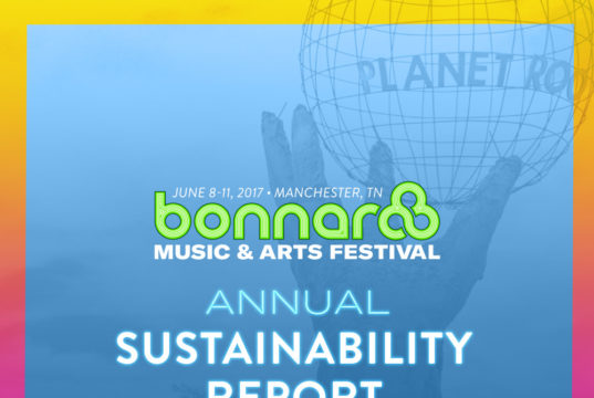Bonnaroo Music Festival 2016 Sustainability Report. Photo provided.