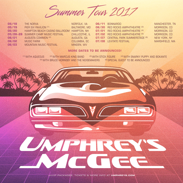 Umphrey's McGee Summer Tour 2017. Photo provided.