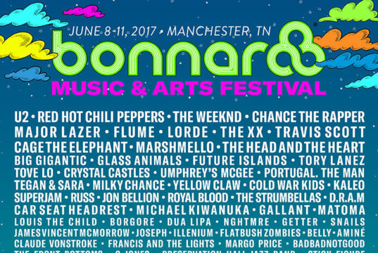 Bonnaroo Music Festival 2017 lineup. Photo by: Bonnaroo Music Festival