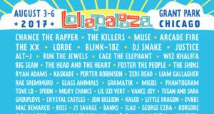 Lollapalooza 2017 lineup. Photo provided.