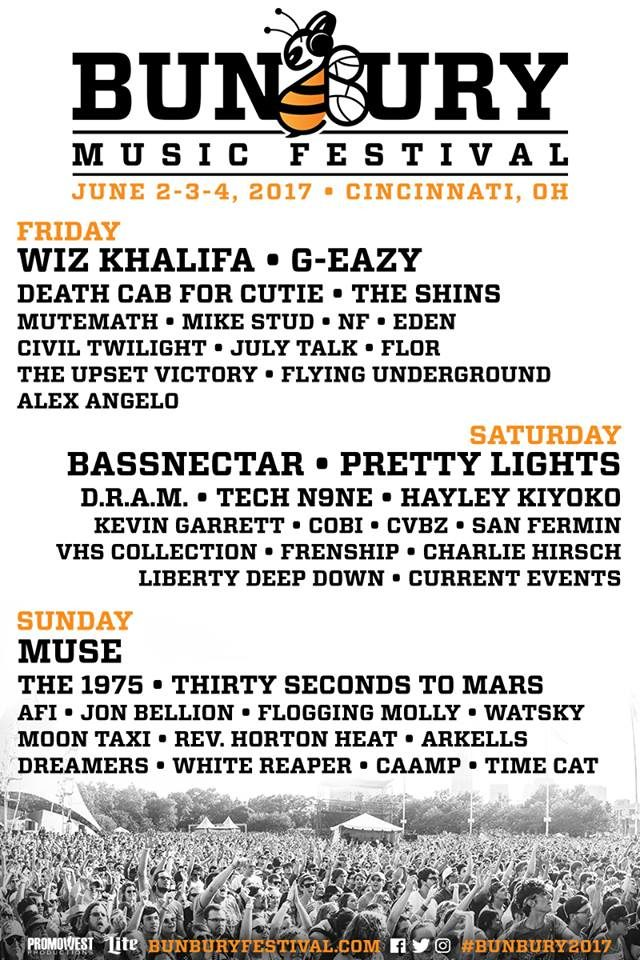 Bunbury Music Festival 2017 lineup. Photo by: Bunbury Music Festival