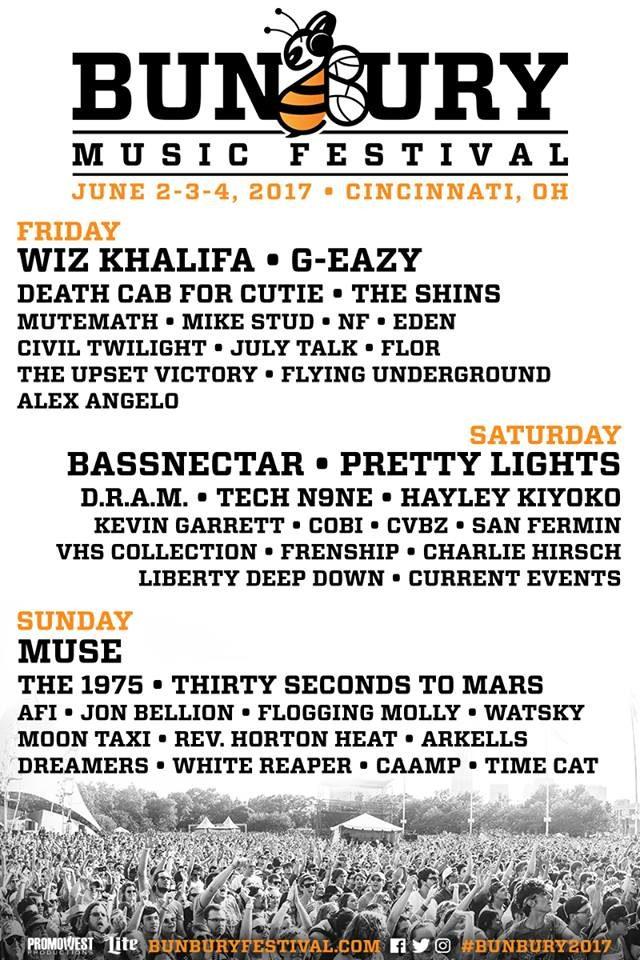 Bunbury Music Festival 2017 lineup. Photo by: Bunbury Music Festival