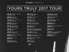 Phora 'Yours Truly 2017 Tour' dates. Photo by: Phora / Twitter