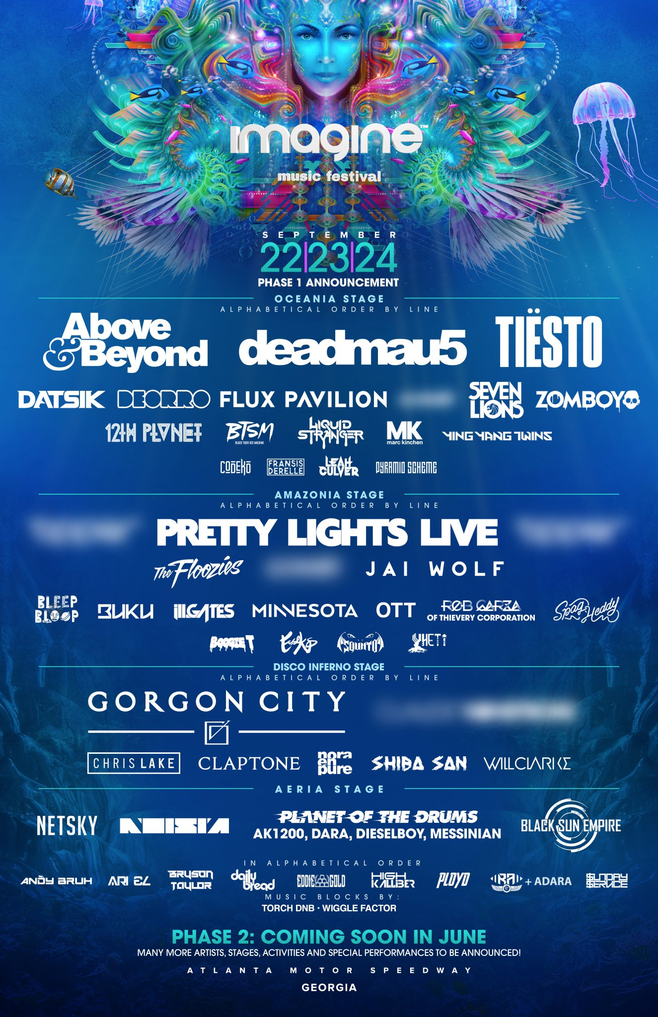 Imagine music festival returns to the atlanta motor for Atlanta motor speedway lights 2017