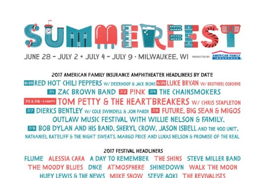 Tom Petty and the Heartbreakers and +800 live acts performing live at Summerfest 2017. Photo by: Summerfest / Twitter