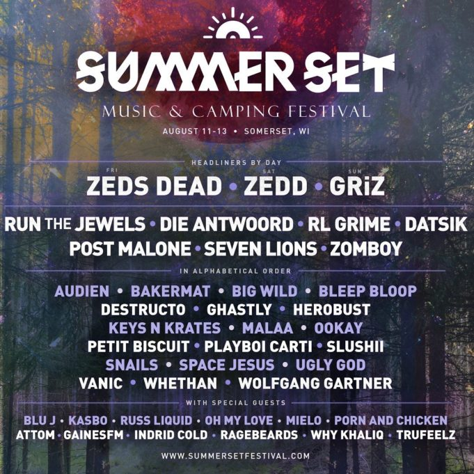 Summer Set Music Festival 2017 lineup. Photo by: Summer Set Music Festival / Twitter