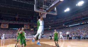 Oregon Ducks and the North Carolina Tar Heels compete in the Final Four. Photo by: March Madness / YouTube
