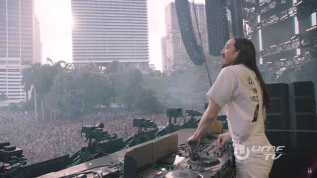 Steve Aoki at the 2017 Ultra Music Festival. Photo by: Steve Aoki / UMF TV / YouTube