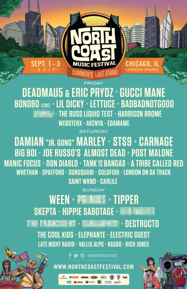 North Coast Music Festival 2017 lineup. Photo by: North Coast Music Festival