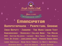 Purple Hatter's Ball 2017 lineup. Photo provided.