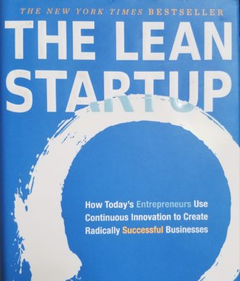 The Lean Startup book cover by Eric Ries. Photo by: Matthew McGuire