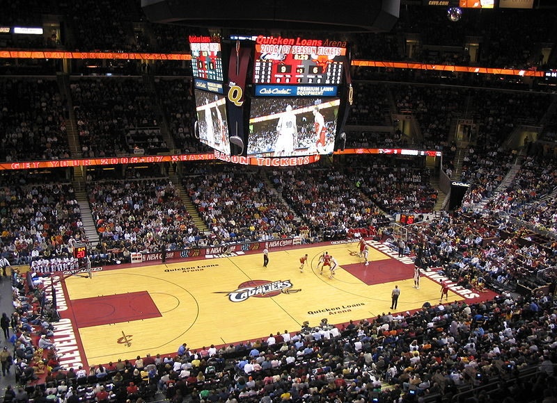 Quicken Loans Arena. Photo by: CyberTootie / Wikimedia Commons
