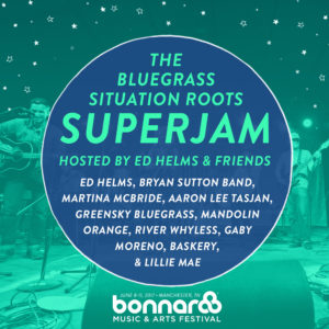 Bonnaroo bluegrass Superjam lineup. Photo by: Bonnaroo