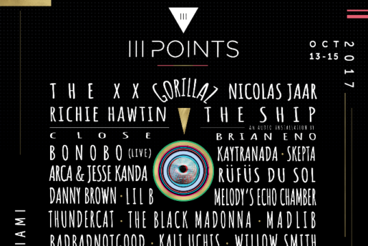 III Points 2017 lineup. Photo by: III Points