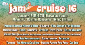 Jam Cruise 16 lineup. Photo by: Jam Cruise / Cloud 9 Adventures