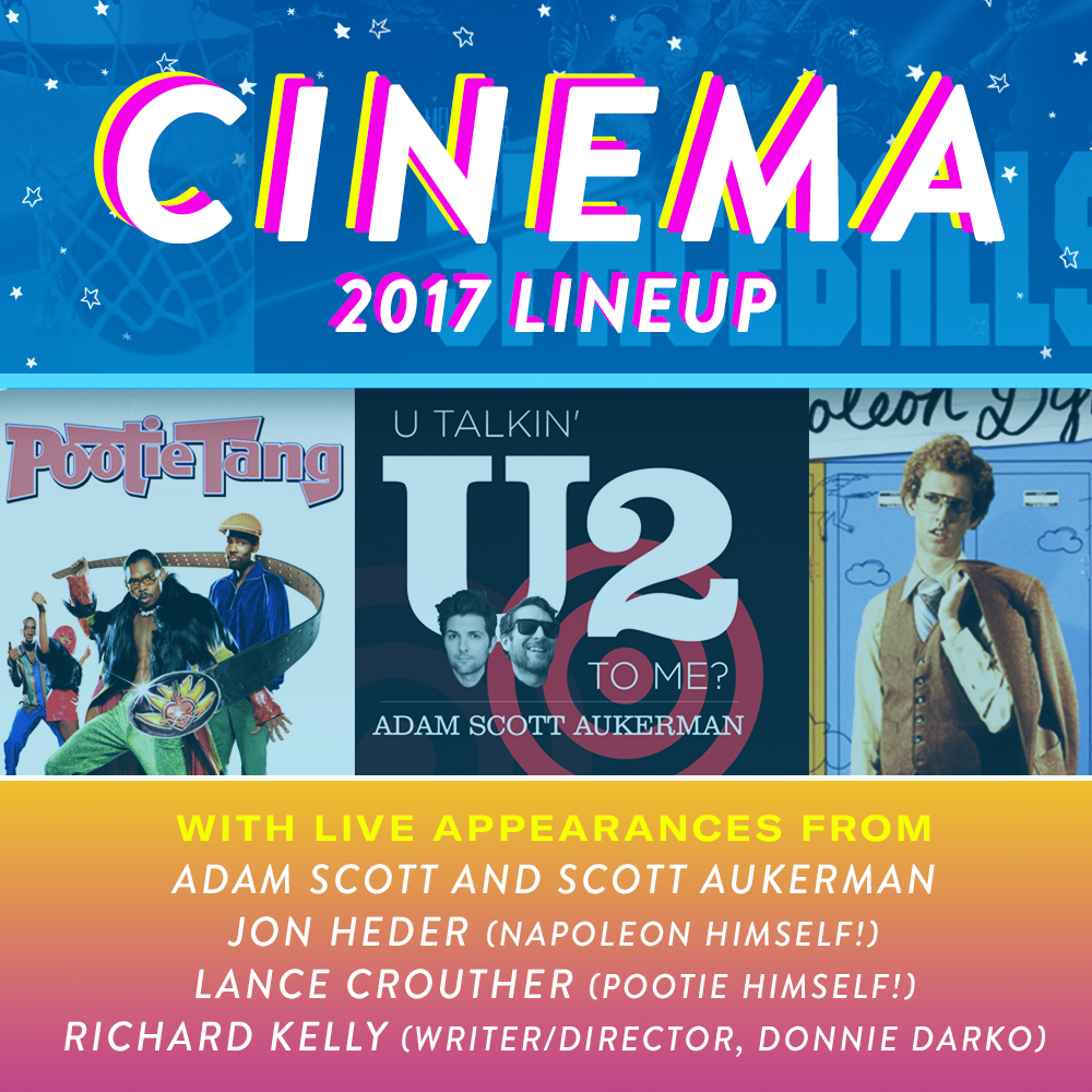 Jon Heder, Adam Scott and Scott Aukerman join the Bonnaroo 2017 Cinema Lineup