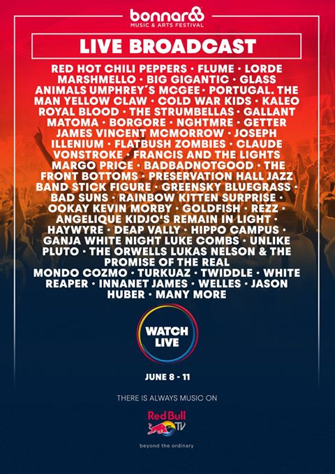 Bonnaroo 2017 live stream lineup. Photo by: Bonnaroo Music Festival