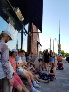 Guests waiting for Portugal. The Man and Electric Guest at The Pageant Theater. Photo taken on 06/11/17. Photo by: Matthew McGuire