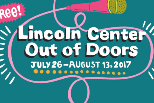Lincoln Center Out of Doors graphic art. Photo: Lincoln Center / YouTube