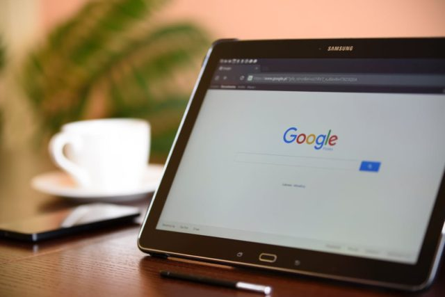 A tablet with Google Search. Photo by: Pexels.com