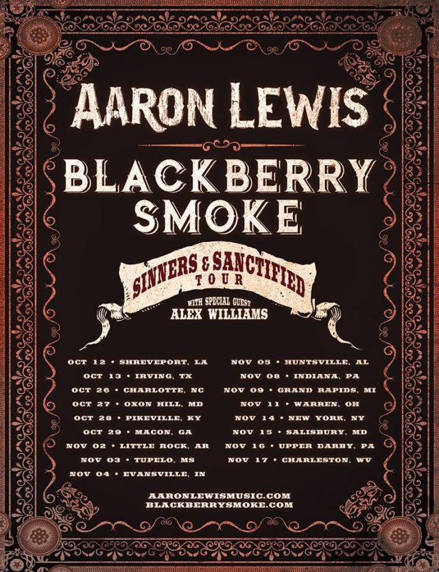 Aaron Lewis and Blackberry Smoke 2017 co-headlining tour dates. Photo provided.