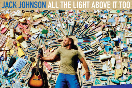 Jack Johnson album artwork for All The Light Above It Too. Photo provided by: Brushfire Records