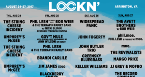 LOCKN Music Festival 2017 artist schedule. Photo by: LOCKN Music Festival