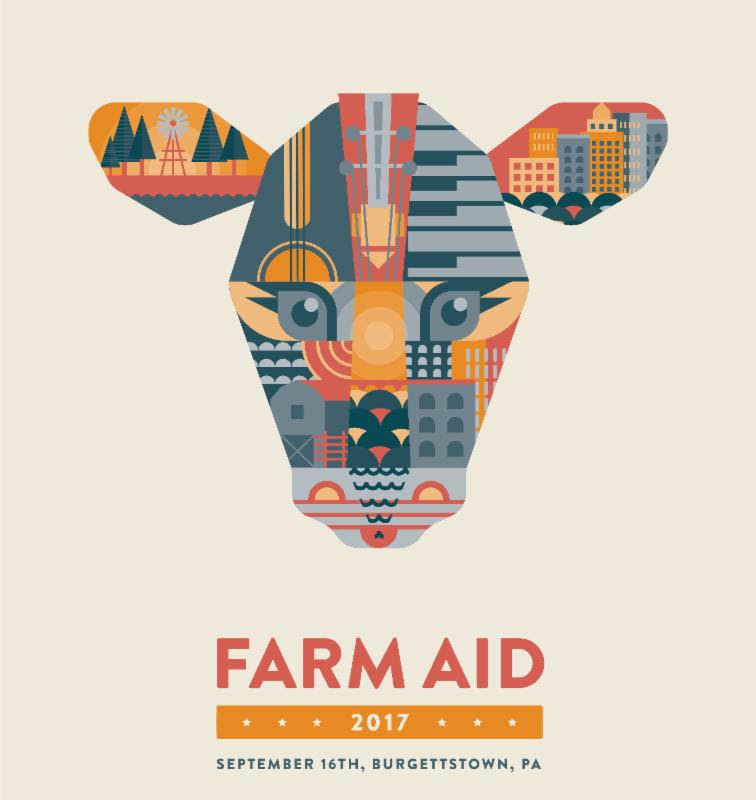Farm Aid 2017 concert poster. Photo by: Farm Aid