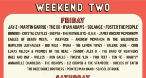 ACL Festival 2017 Weekend Two lineup. Photo by: ACL Fest / Twitter