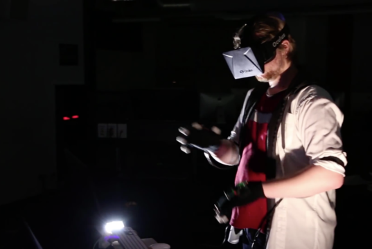 Virtual reality and music production. Photo by: Mystfit / YouTube