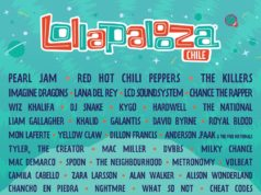 Lollapalooza 2018 Chile lineup. Photo provided.