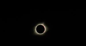 A moment of totality during the 2017 solar eclipse. Photo by: Matthew McGuire