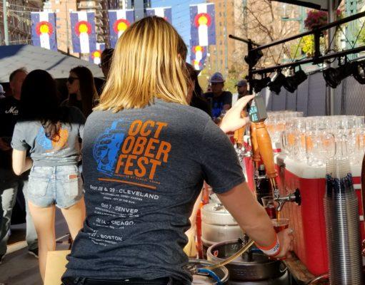 Bartender at Sam Adams Denver Octoberfest 2017. Photo by: Matthew McGuire