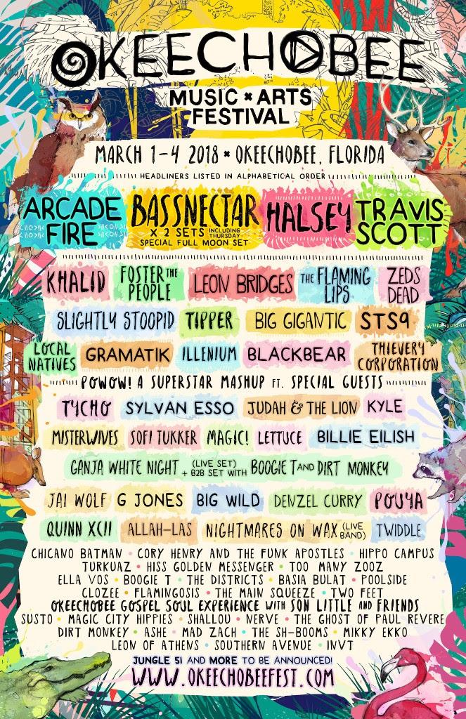 Okeechobee Music Festival 2018 lineup. Photo provided by: Mason Jar Media