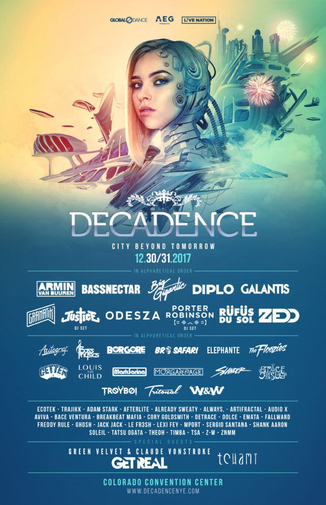 Decadence 2017 Lineup Poster. Photo provided.
