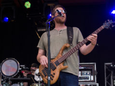 Robert Derhak, bassist for Moe. performing at Summer Camp Music Festival. Photo by: Matthew McGuire
