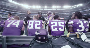 Minnesota Vikings putting together plays during the game. Photo by: Minnesota Vikings