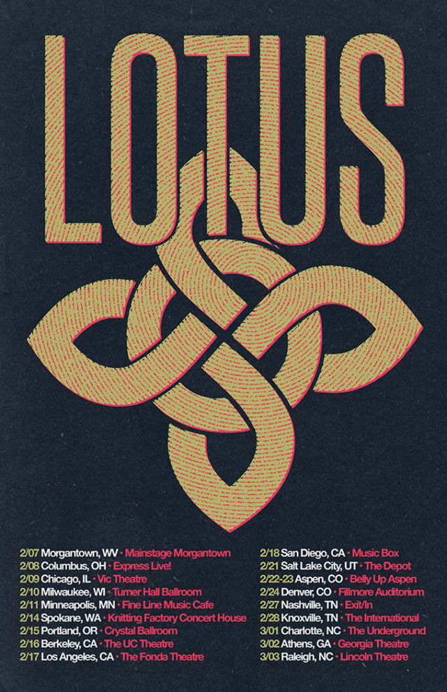 Lotus 2018 tour dates. Photo by: Lotus