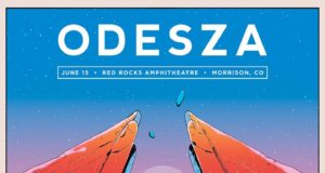 ODESZA at Red Rocks promotional image. Photo by: ODESZA