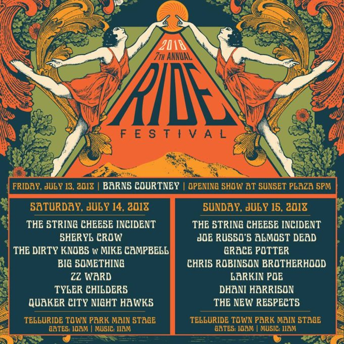 Ride Festival 2018 daily lineup. Photo by: Ride Festival