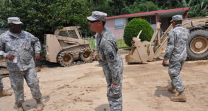National Guardsmen help with recovery efforts after days of rain caused mudslides. Photo by: Eliezer Melendez / Wikimedia Commons / U.S. military or Department of Defense